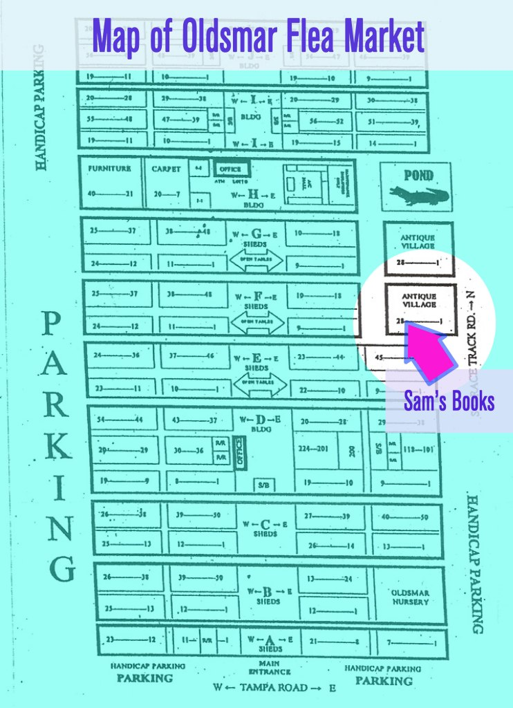 Oldsmar Flea Market Map Sam's Books